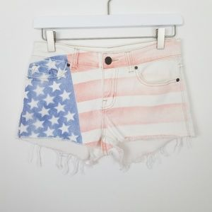 Urban Outfitters BDG American Flag Shorts Size 26